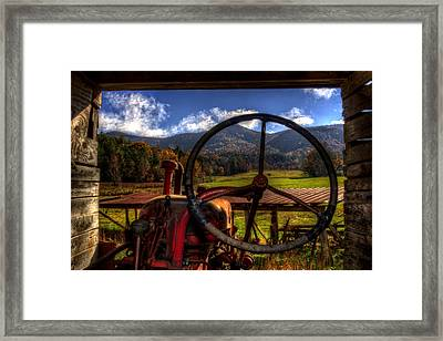 Mountain Farm View Framed Print