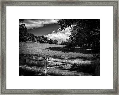 Mountain Field Framed Print by Bob Orsillo