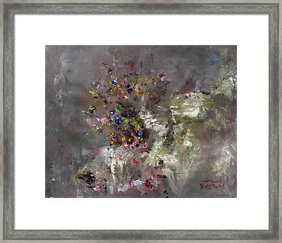 Mountain Flowers Framed Print by Ylli Haruni