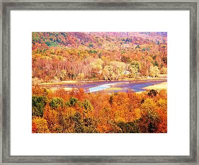 Mountain Foliage Series 010 Framed Print