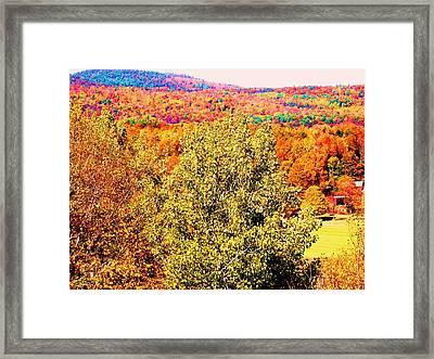 Mountain Foliage Series 017 Framed Print