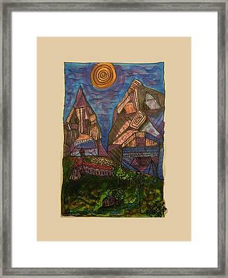 Mountain Folk Framed Print