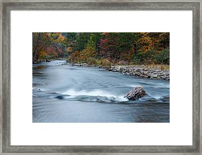 Mountain Fork River In The Fall Framed Print