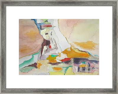 Mountain Glacier Abstract Framed Print