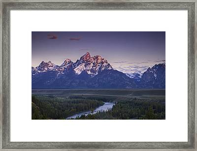 Mountain Glow Framed Print by Andrew Soundarajan