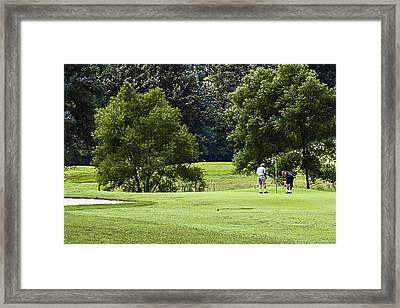 Mountain Golf Framed Print by Barry Jones