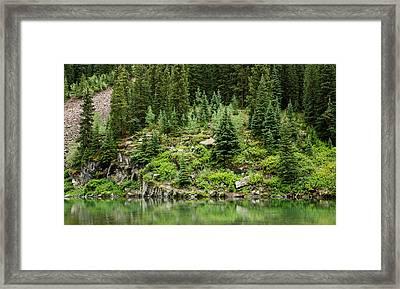 Mountain Green Framed Print by Adam Pender