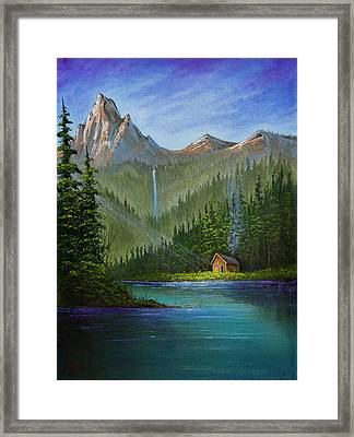 Mountain Haven Framed Print by C Steele