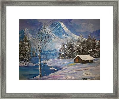 Mountain Hideaway Framed Print