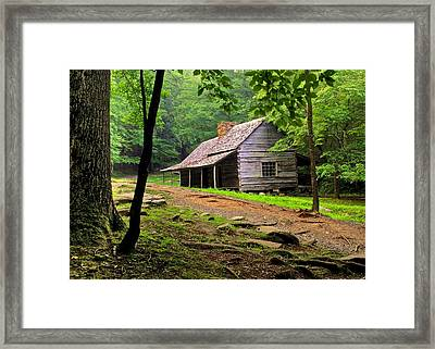 Mountain Hideaway Framed Print by Frozen in Time Fine Art Photography