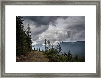 Mountain High Back Roads Framed Print