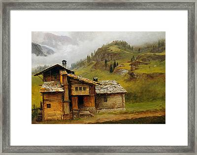 Mountain House  Framed Print by Albert Bierstadt