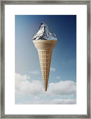 Mountain Ice-cream Framed Print by Kitty Bitty