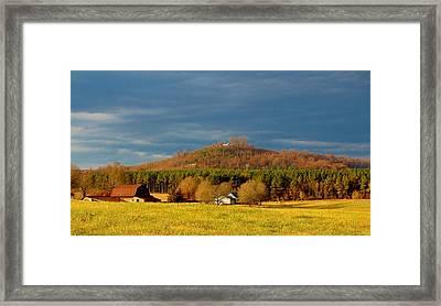 Mountain In North Carolina Framed Print by Cynthia Guinn