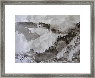 Mountain In Snow Framed Print