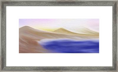 Mountain Lake - A Digital Painting Framed Print