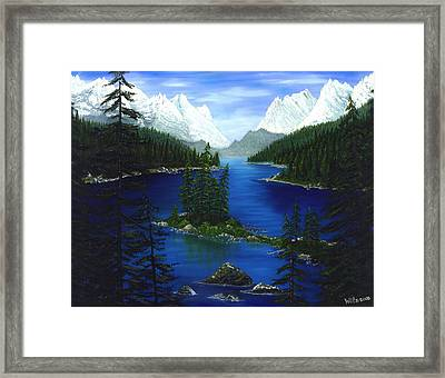 Mountain Lake Canada Framed Print