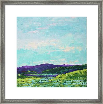 Mountain Lake Framed Print by Gail Kent