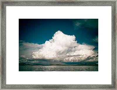Mountain Lake Manasarovar Panoramic Framed Print