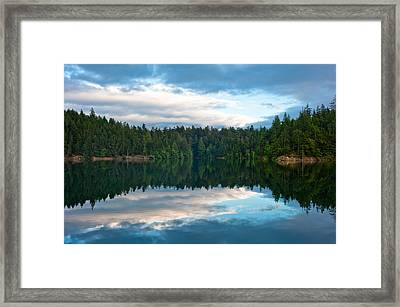 Mountain Lake Reflection Framed Print by Crystal Hoeveler