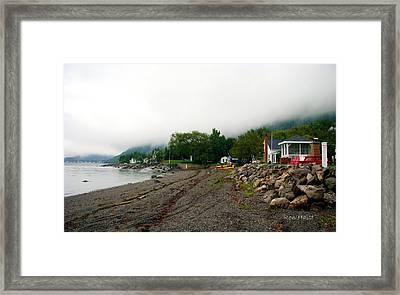 Mountain Lake Framed Print by Ron Haist