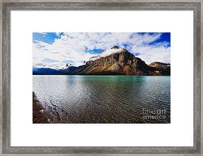 Mountain Lake Scenic Framed Print by George Oze