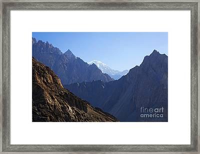 Mountain Landscape In The Karakorum Framed Print by Robert Preston
