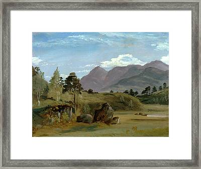 Mountain Landscape, Possibly In The Lake District Framed Print