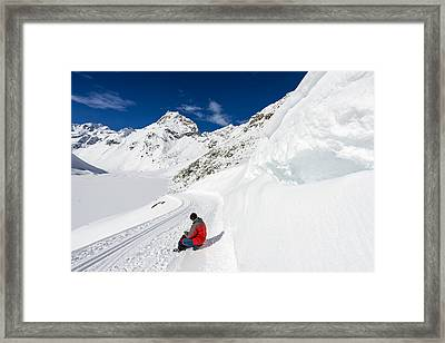 Mountain Landscape With Tons Of Snow In Austria Framed Print by Matthias Hauser