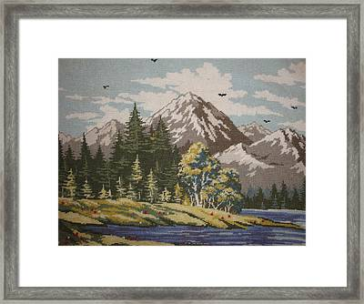 Mountain Lanscape Framed Print by Eugen Mihalascu