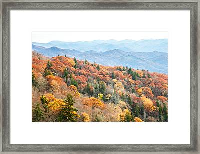 Mountain Layers Framed Print by Scott Moore