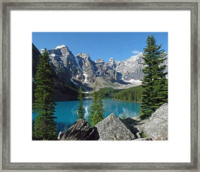 Framed Print featuring the photograph Mountain Magic by Alan Socolik