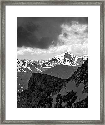Mountain Majesty Framed Print by Julie Magers Soulen