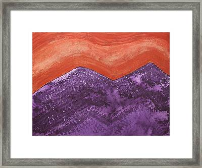 Mountain Majesty Original Painting Framed Print by Sol Luckman