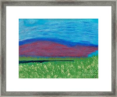 Mountain - Meadow - Abstract Framed Print by D Hackett
