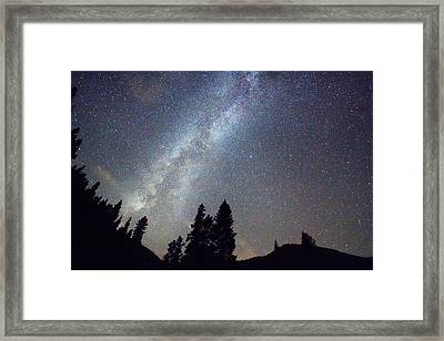 Mountain Milky Way Stary Night View Framed Print by James BO  Insogna