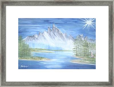 Mountain Mist 2 Framed Print by Suzanne Surber