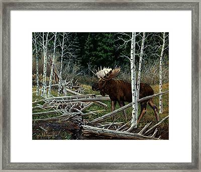 Framed Print featuring the painting Mountain Monarch by Craig T Burgwardt