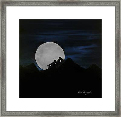 Mountain Monastery Framed Print by Dick Bourgault