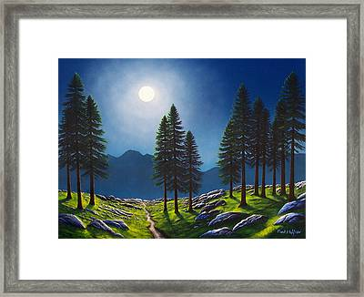 Mountain Moonglow Framed Print