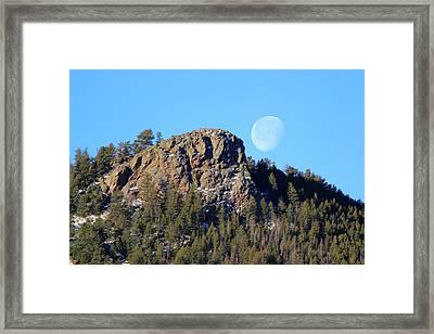 Mountain Moonset Framed Print
