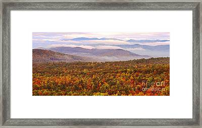 Mountain Mornin' In Autumn Framed Print by Lydia Holly
