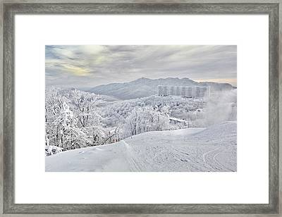Mountain Morning After The Storm Framed Print