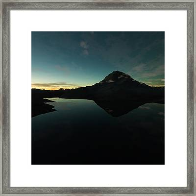Mountain Morning Star Framed Print by Hakon Soreide