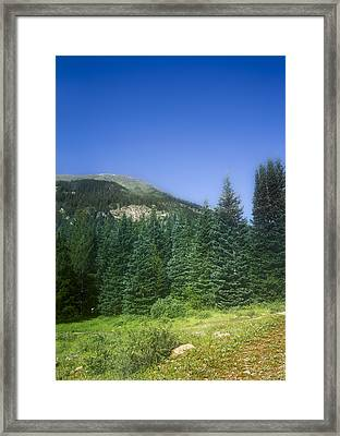 Mountain Morning Tranquility Framed Print by Mark Andrew Thomas