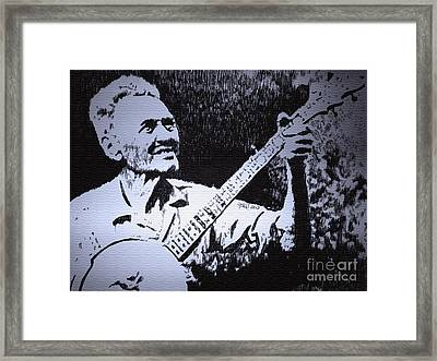 Mountain Music Framed Print by Robbi  Musser