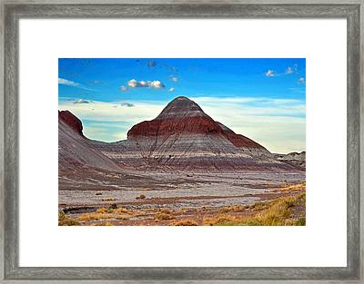 Mountain Of Color - Painted Desert  002 Framed Print by George Bostian