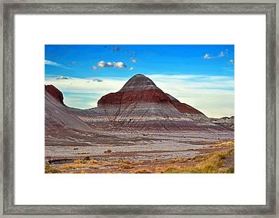 Mountain Of Color - Painted Desert  002 Framed Print
