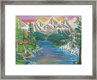 Mountain Of Serenity Framed Print by Mike De Lorenzo