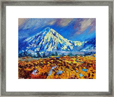 Mountain Painting Fine Art By Ekaterina Chernova Framed Print